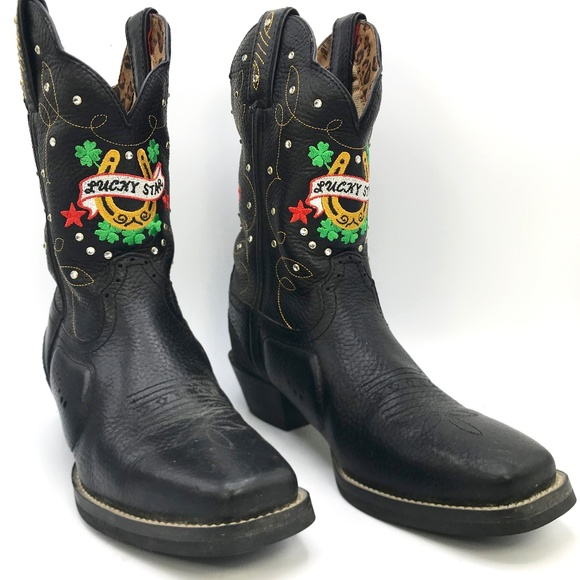 2c031bce89e Tony Lama Lucky Star Embroidered Rhinestone Boot 7